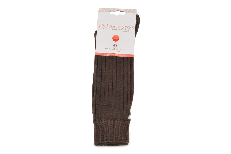 Chaussettes et collants My Lovely Socks Justin Marron vue derrière