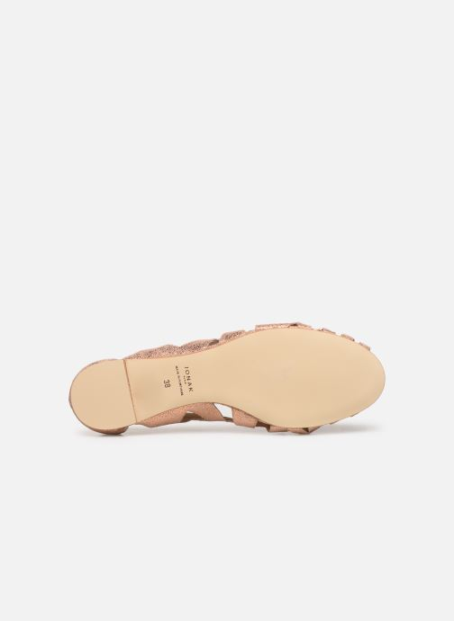 Ballerines Jonak DERAY Rose vue haut