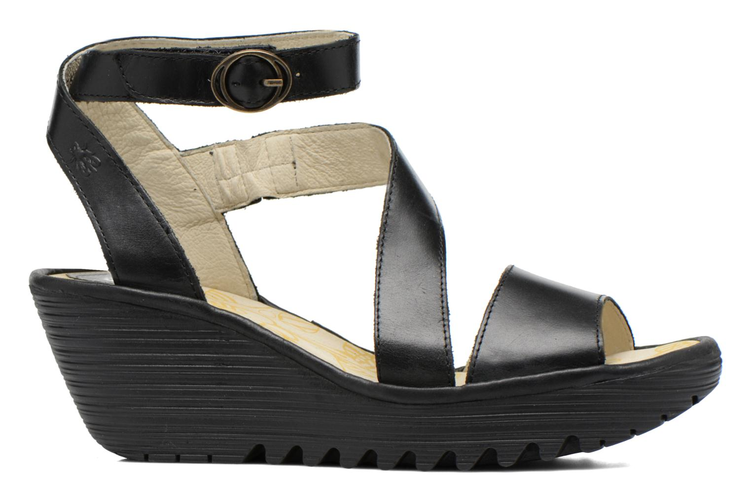 Sandals Fly London Yesk Black back view