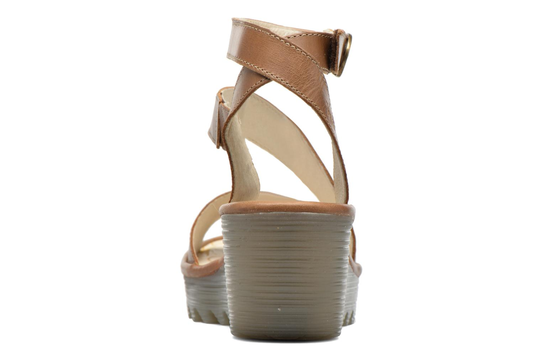 Sandales et nu-pieds Fly London Yesk Marron vue droite
