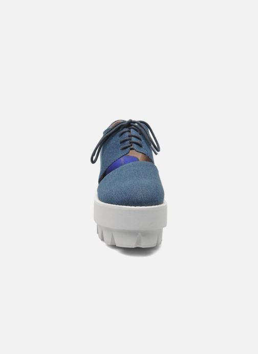 Chaussures à lacets Jeffrey Campbell DELONGE Bleu vue portées chaussures