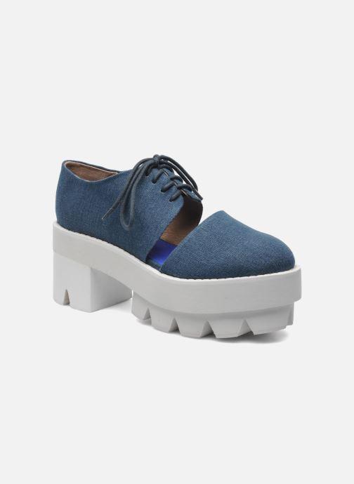Chaussures à lacets Jeffrey Campbell DELONGE Bleu vue détail/paire