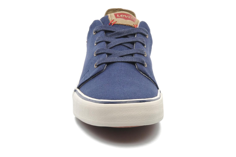 Baskets Levi's Justin Low Lace Bleu vue portées chaussures