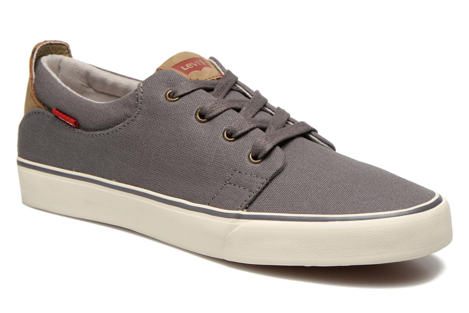 Baskets Levi's Justin Low Lace Gris vue détail/paire