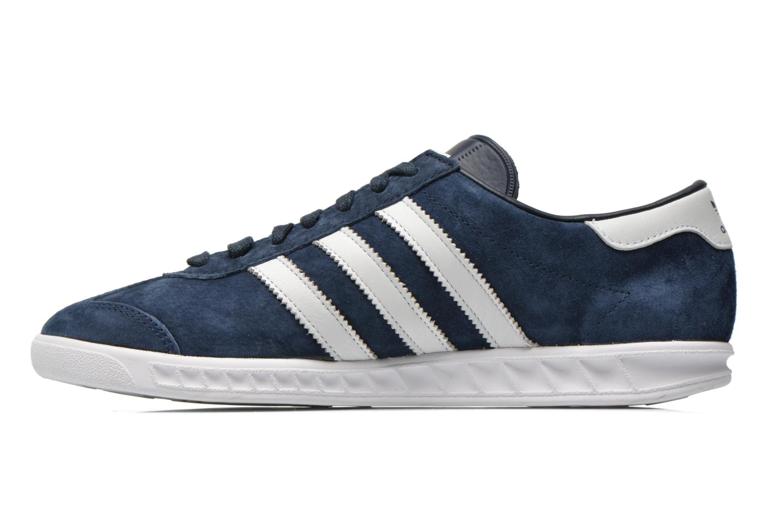 Baskets Adidas Originals Hamburg Bleu vue face