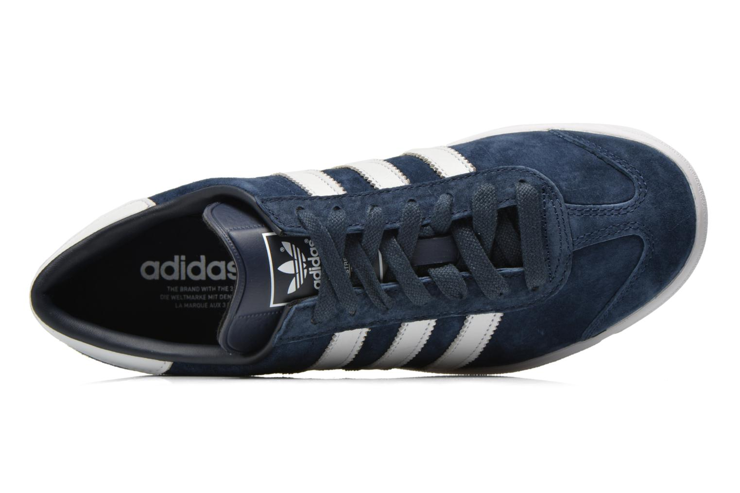 Baskets Adidas Originals Hamburg Bleu vue gauche