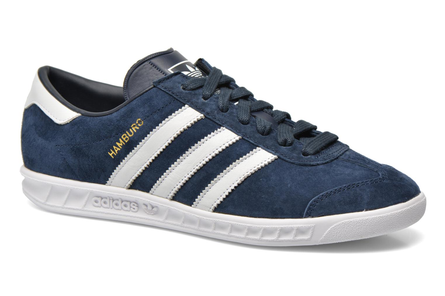 Baskets Adidas Originals Hamburg Bleu vue détail/paire