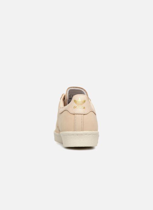 Sneaker adidas originals Superstar 80S W beige ansicht von rechts