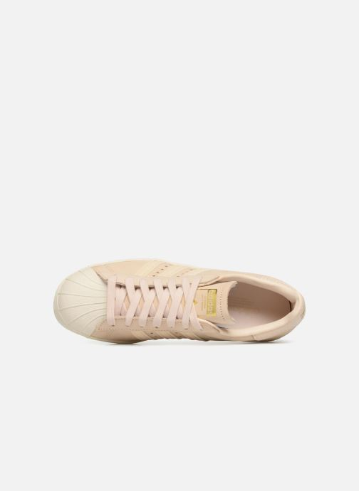 Baskets adidas originals Superstar 80S W Beige vue gauche