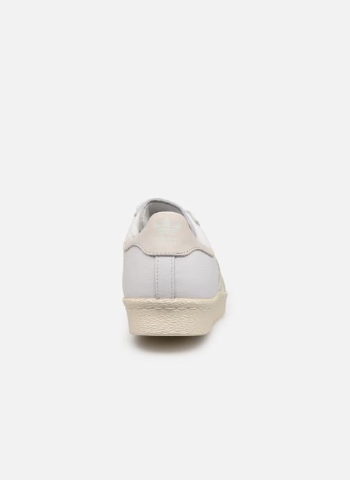 Baskets adidas originals Superstar 80S W Blanc vue droite