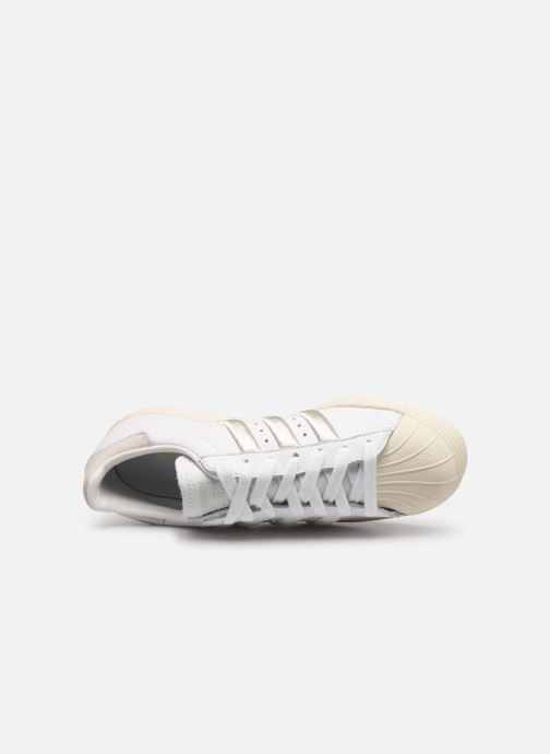 Trainers adidas originals Superstar 80S W White view from the left