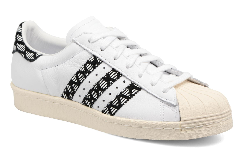 Deportivas Adidas Originals Superstar 80S W Negro vista de detalle / par