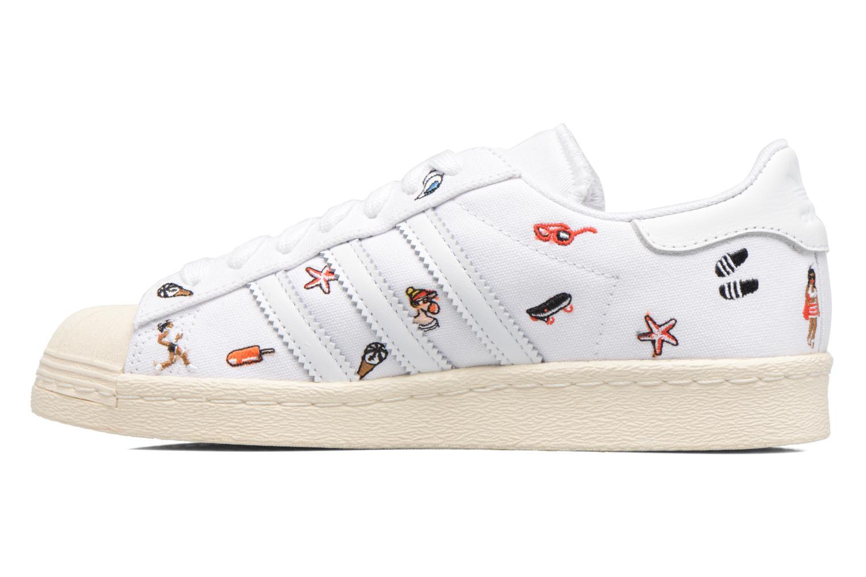 Sneakers Adidas Originals Superstar 80S W Hvid se forfra