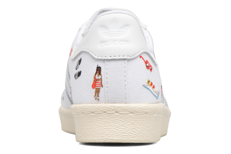 Sneakers Adidas Originals Superstar 80S W Hvid Se fra højre
