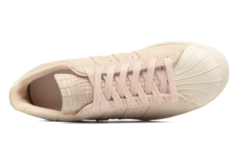 Baskets Adidas Originals Superstar 80S W Beige vue gauche