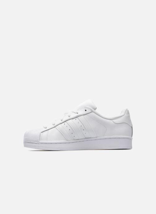 Sneaker adidas originals Superstar Foundation weiß ansicht von vorne