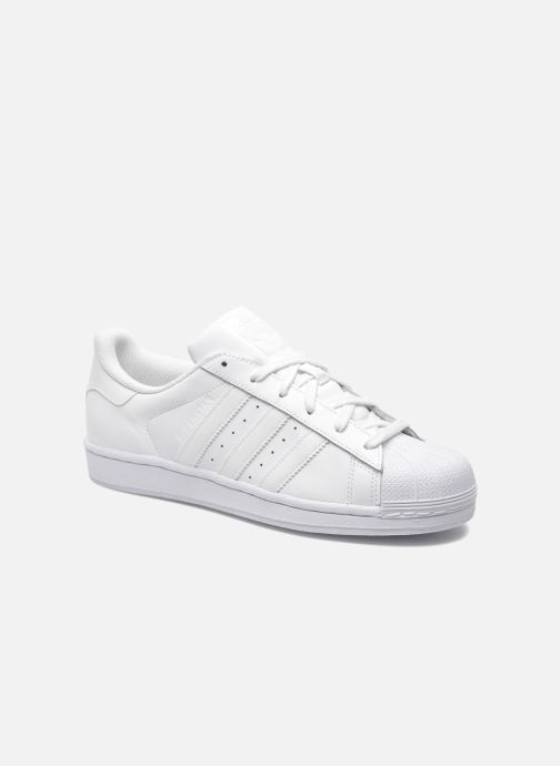 Deportivas adidas originals Superstar Foundation Blanco vista de detalle / par