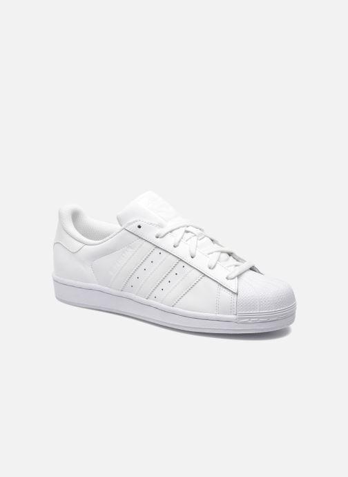 Baskets adidas originals Superstar Foundation Blanc vue détail/paire