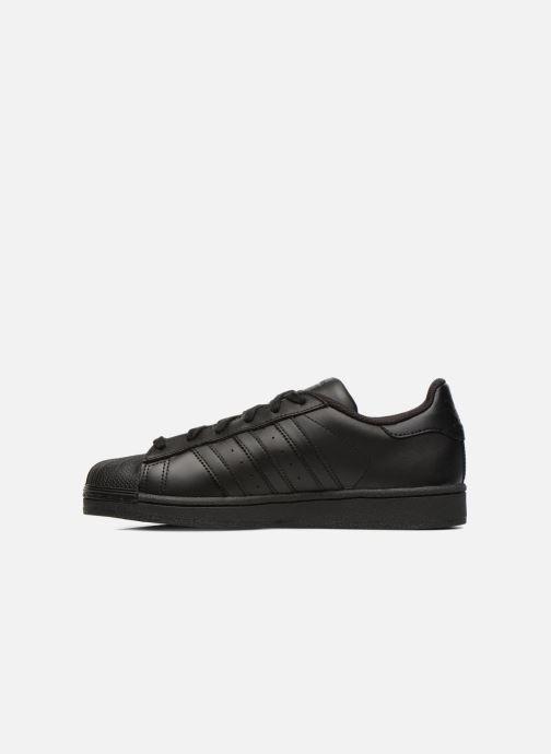 Sneaker adidas originals Superstar Foundation schwarz ansicht von vorne