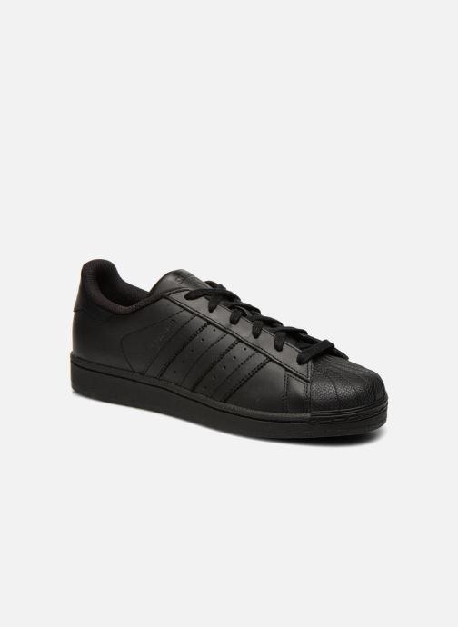 Baskets adidas originals Superstar Foundation Noir vue détail/paire