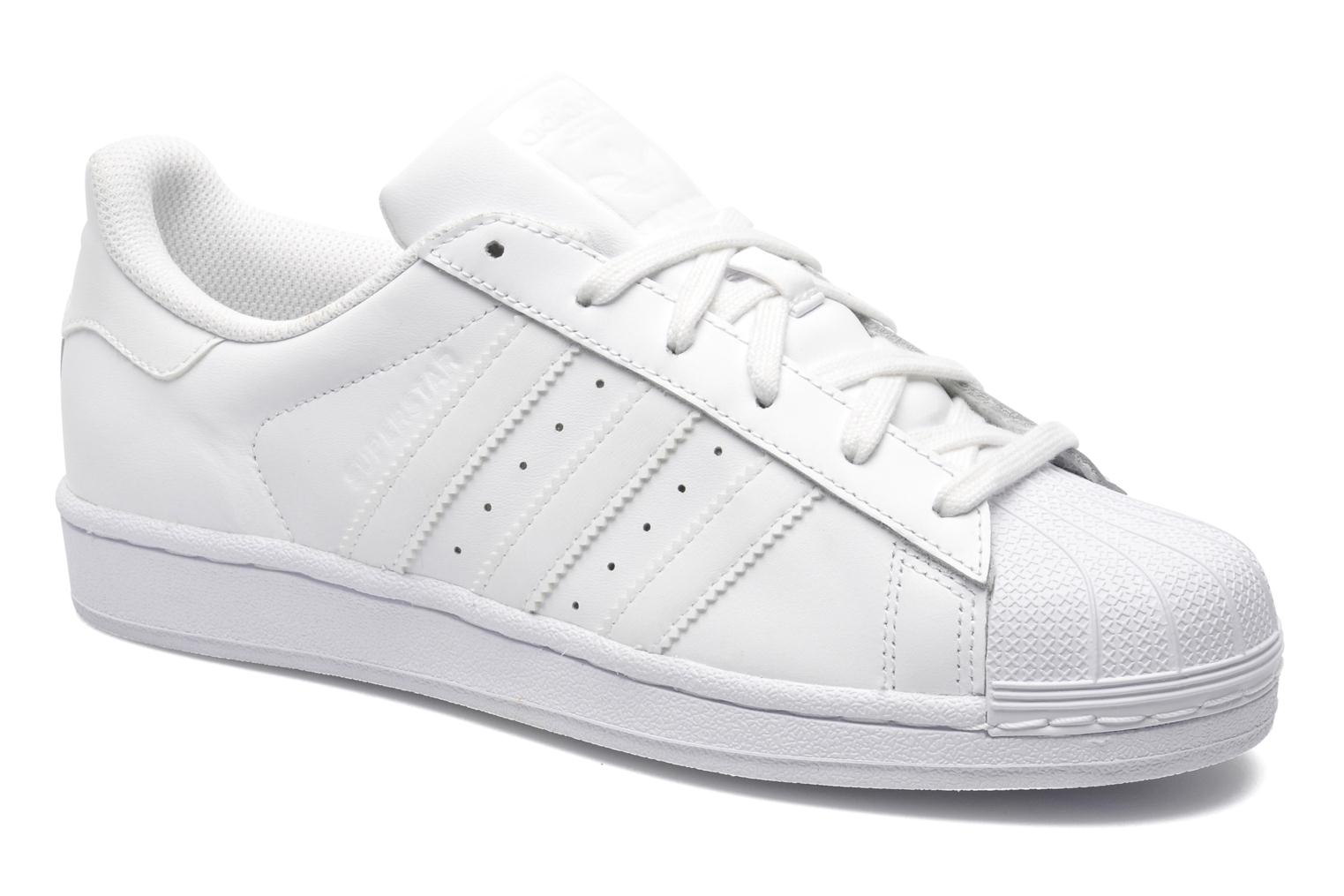 Baskets Adidas Originals Superstar Foundation Blanc vue détail/paire