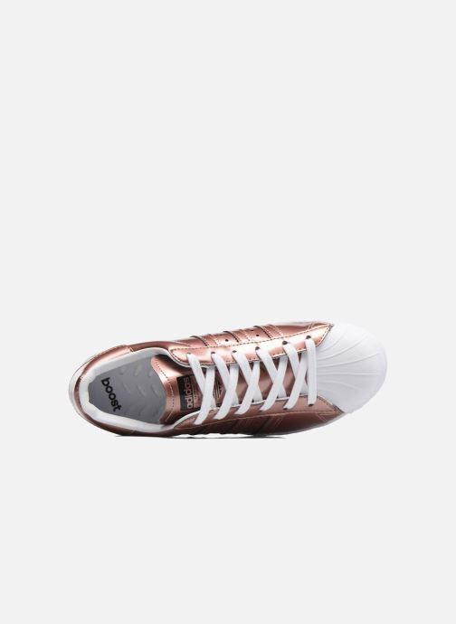 Baskets adidas originals Superstar W Or et bronze vue gauche