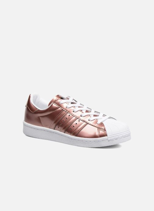 Baskets adidas originals Superstar W Or et bronze vue détail/paire