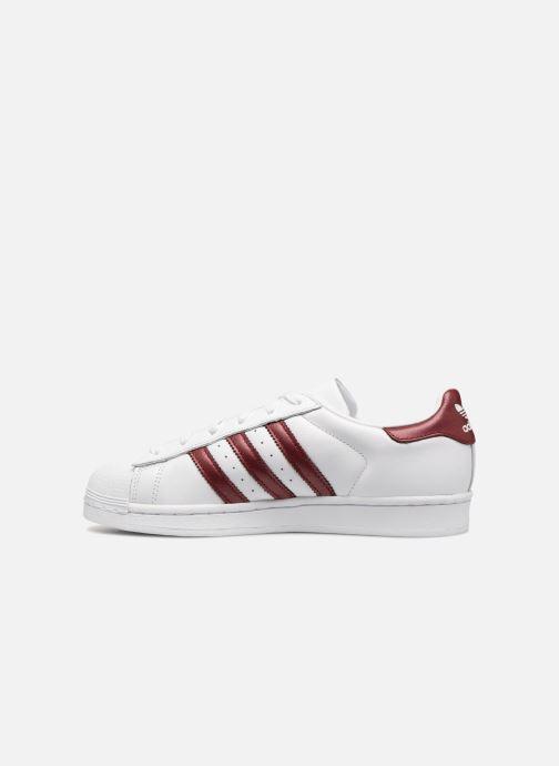 Sneaker adidas originals Superstar W weinrot ansicht von vorne