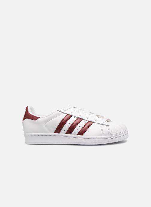 Sneaker adidas originals Superstar W weinrot ansicht von hinten