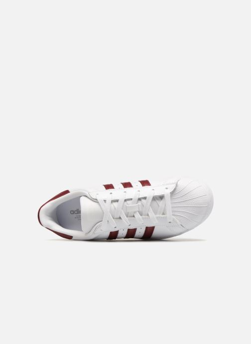 Sneaker adidas originals Superstar W weinrot ansicht von links