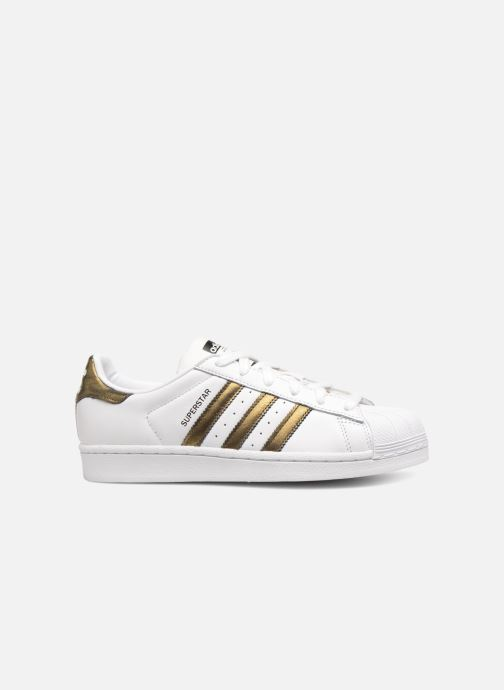 Baskets adidas originals Superstar W Blanc vue derrière