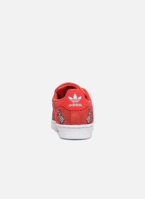 Baskets adidas originals Superstar W Rouge vue droite
