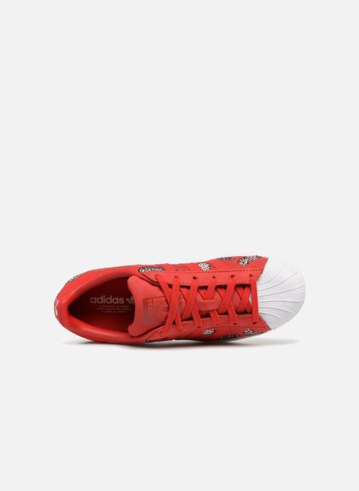 Baskets adidas originals Superstar W Rouge vue gauche