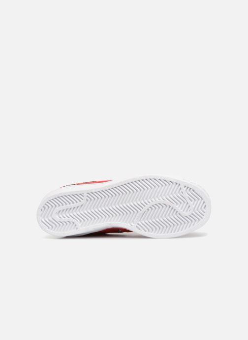 Baskets adidas originals Superstar W Rouge vue haut