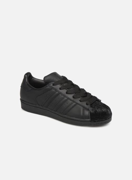 Deportivas adidas originals Superstar W Negro vista de detalle / par