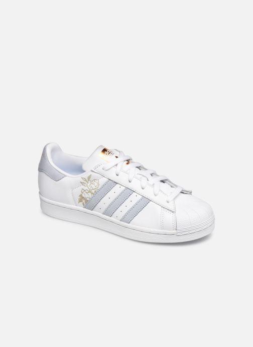 detailed look d7866 9712b Baskets adidas originals Superstar W Blanc vue détail paire