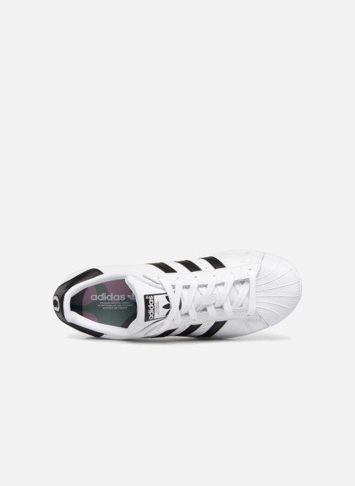 Baskets adidas originals Superstar W Noir vue gauche