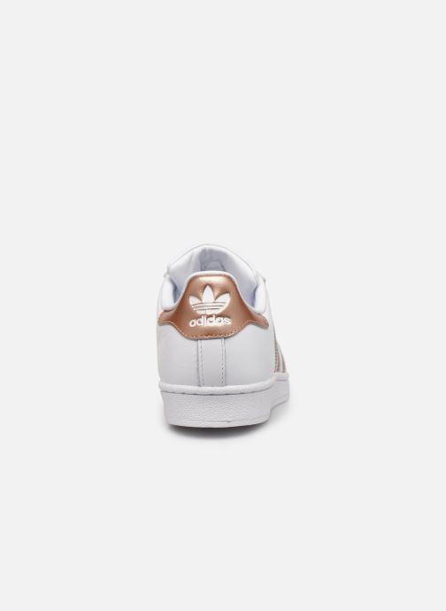 Baskets adidas originals Superstar W Blanc vue droite