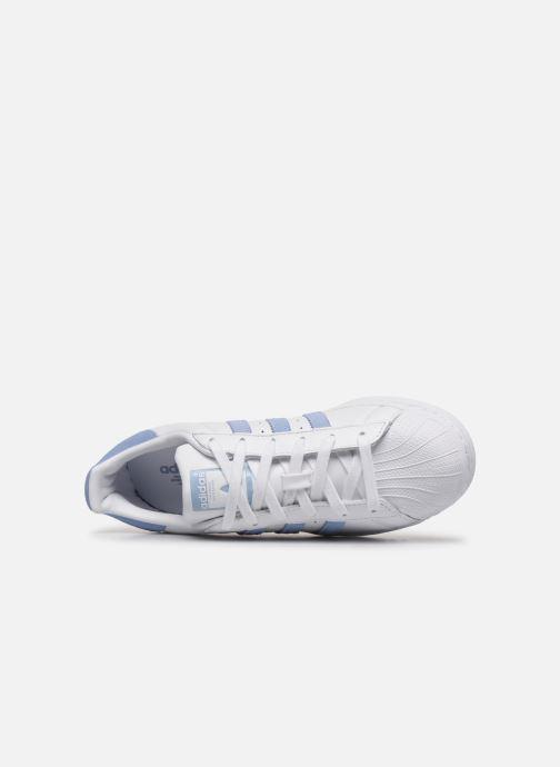 Baskets adidas originals Superstar W Blanc vue gauche