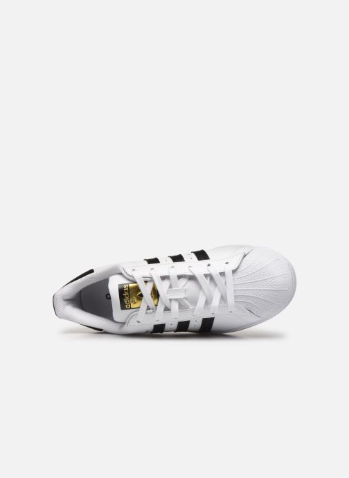 Baskets adidas originals Superstar W Blanc vue gauche