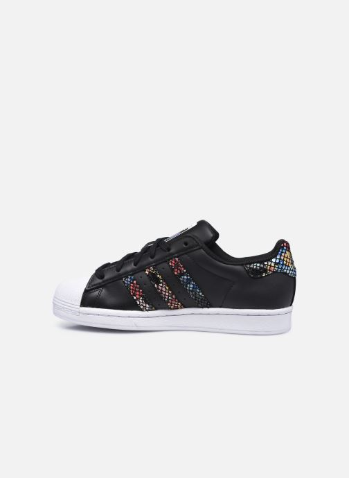 Baskets adidas originals Superstar W Noir vue face
