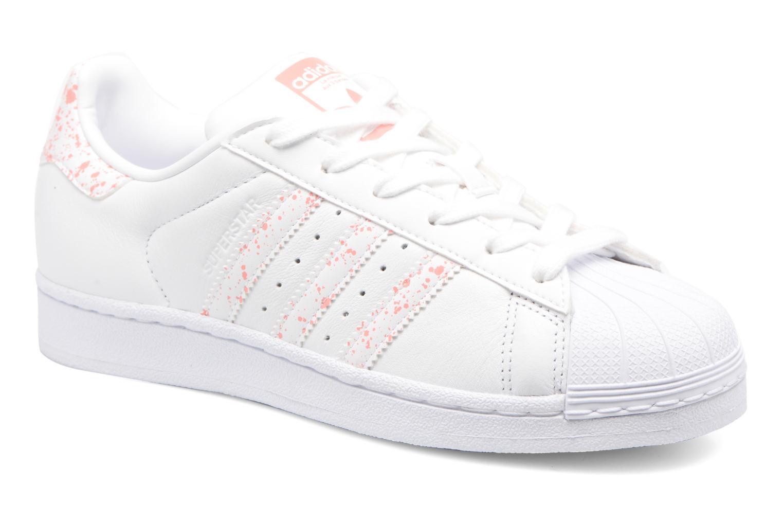 Baskets Adidas Originals Superstar W Blanc vue détail/paire