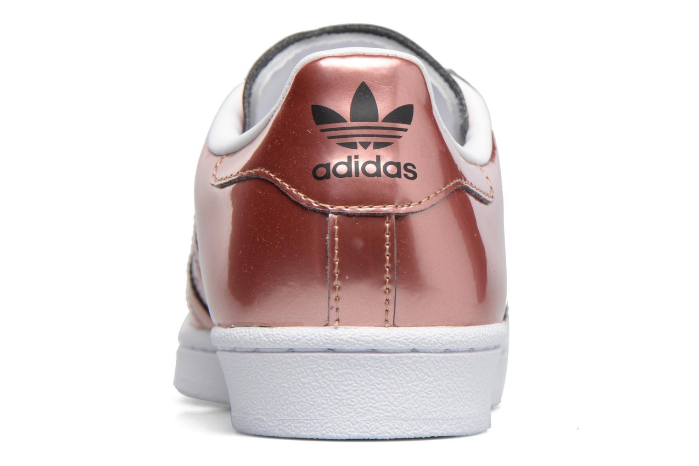Deportivas Adidas Originals Superstar W Oro y bronce vista lateral derecha