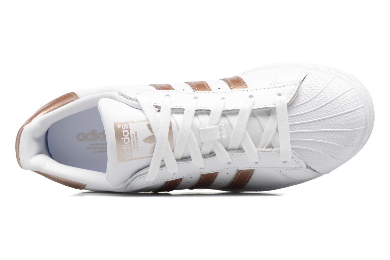 Sneakers Adidas Originals Superstar W Bianco immagine sinistra