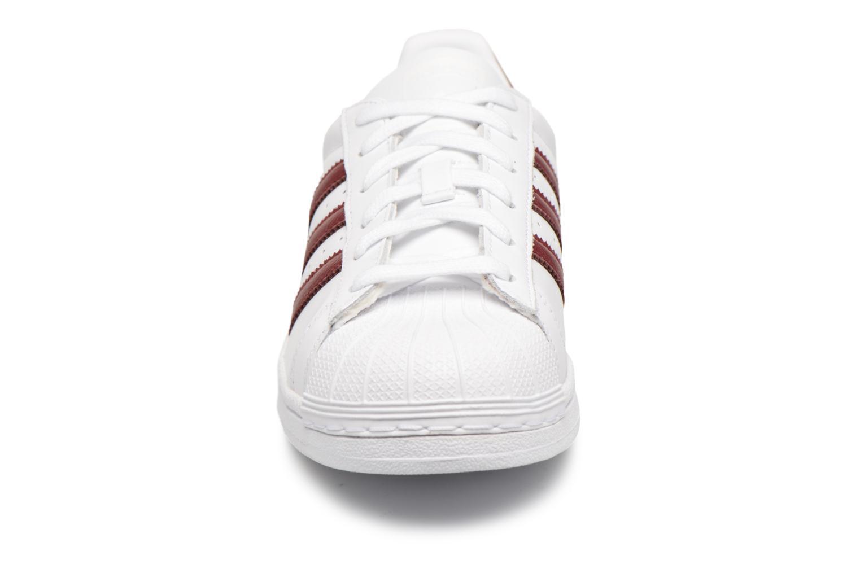 Sneakers Adidas Originals Superstar W Bordò modello indossato