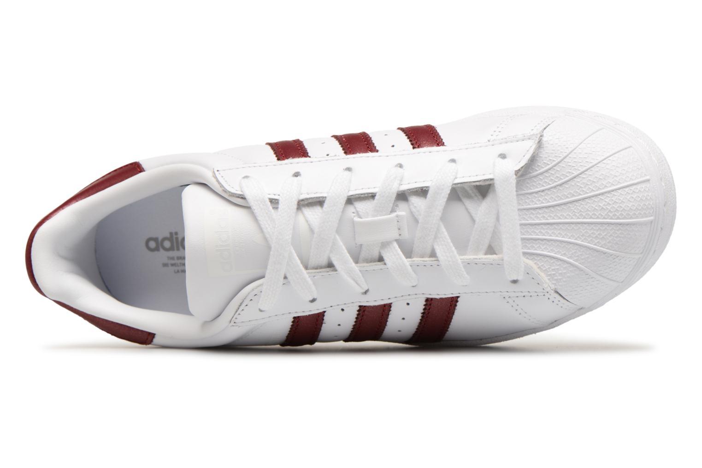 Sneakers Adidas Originals Superstar W Bordò immagine sinistra