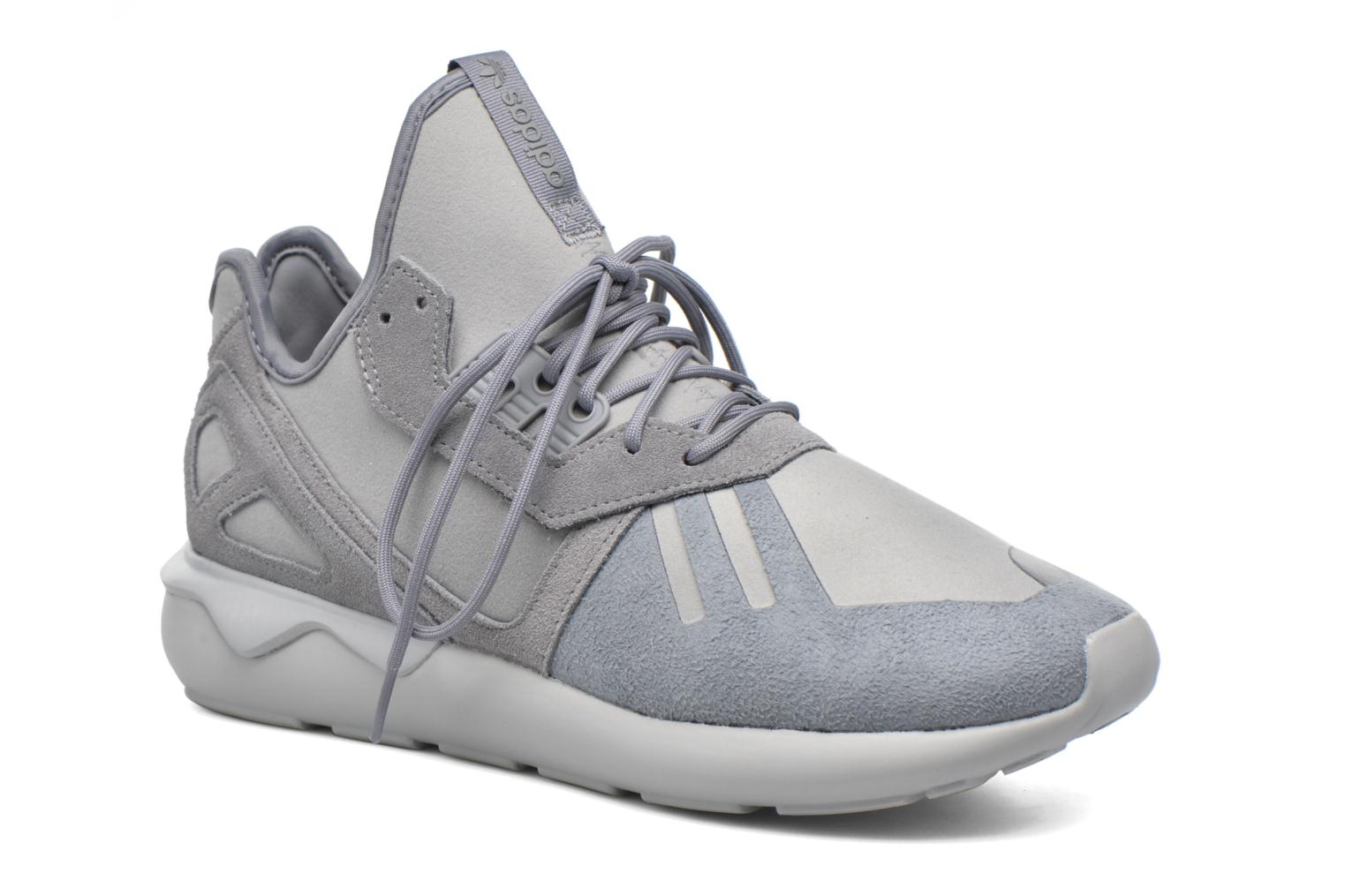 Baskets Adidas Originals Tubular Runner Gris vue détail/paire