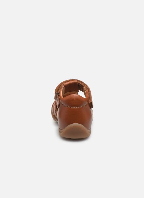 Sandales et nu-pieds Bisgaard Carly Marron vue droite