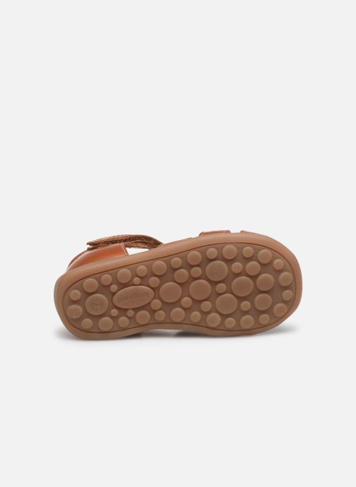 Sandales et nu-pieds Bisgaard Carly Marron vue haut