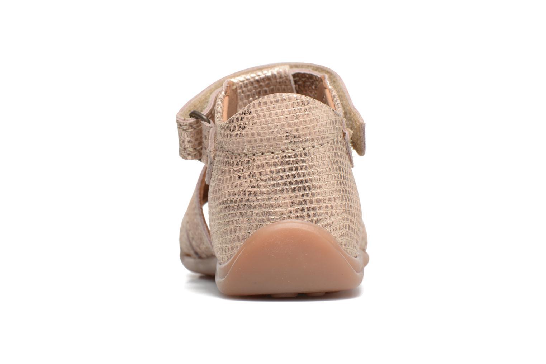 Sandales et nu-pieds Bisgaard Birthe Or et bronze vue droite